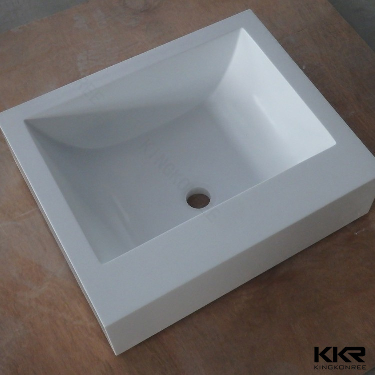 Artificial Stone Solid Surface Wall Hung Bathroom Sink