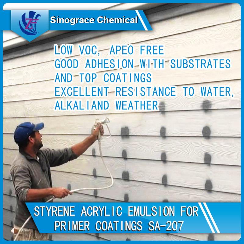 Styrene Acrylic Emulsion for Primer Coatings (SA-207)