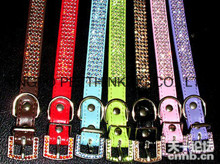 Rhinestone Bling Pet Collar for Dog and Cat