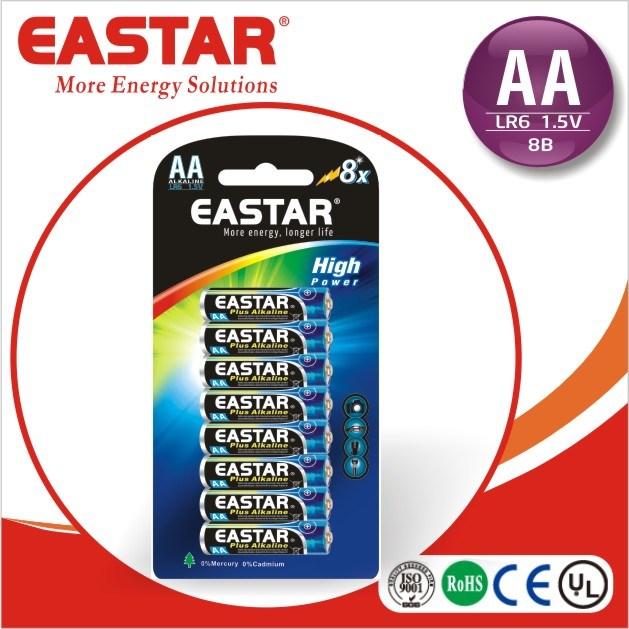 Lr6 AA Alkaline Dry Battery