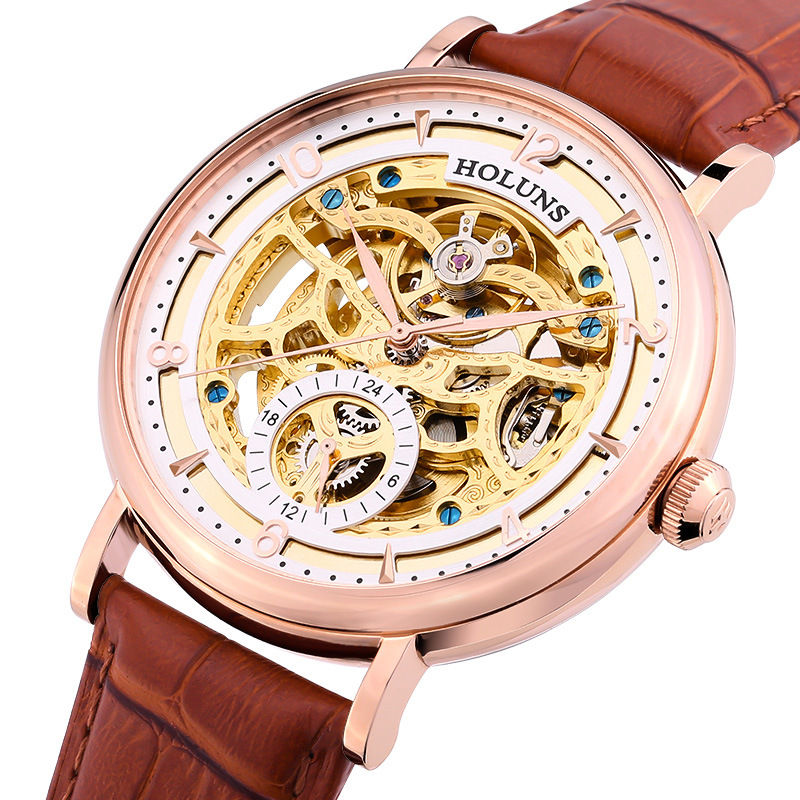 Automatic Mechanical Men Watch Stainless Steel Sapphire Leather Horloges Mannen Special Luxury Bigest Dial Skeleton