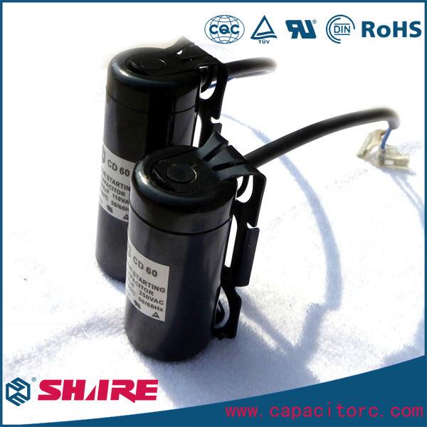 CD60 Type Motor Start Electrolytic Capacitor for Starting Fractional Horsepower