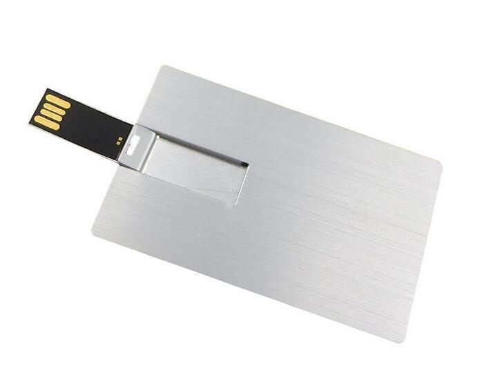 Customized Logo Credit Card USB Memory Stick Metal