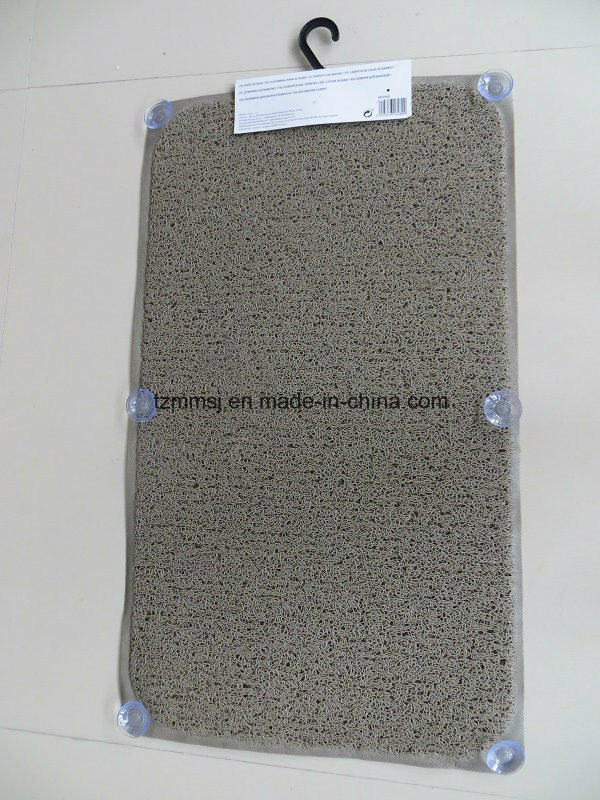 Europe Market PVC Loofa Bath Tube Mat Anti-Slip Floor Mat