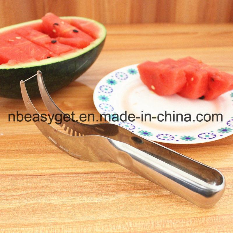 Watermelon Slicer Corer and Server - Highest Quality 18/10 Stainless Steel Melon Slicer