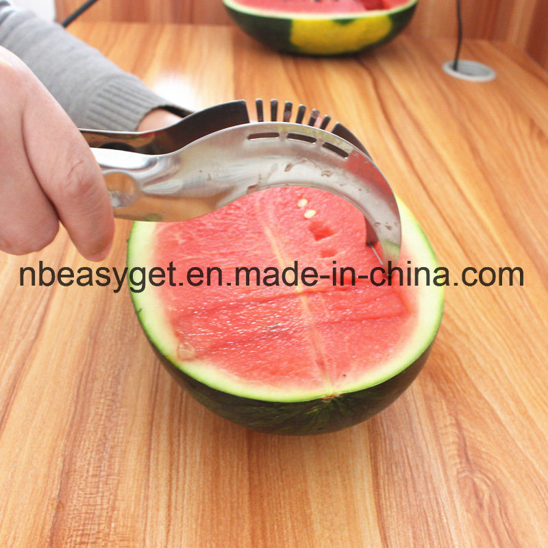 Watermelon Slicer Corer and Server - Highest Quality 18/10 Stainless Steel Melon Slicer