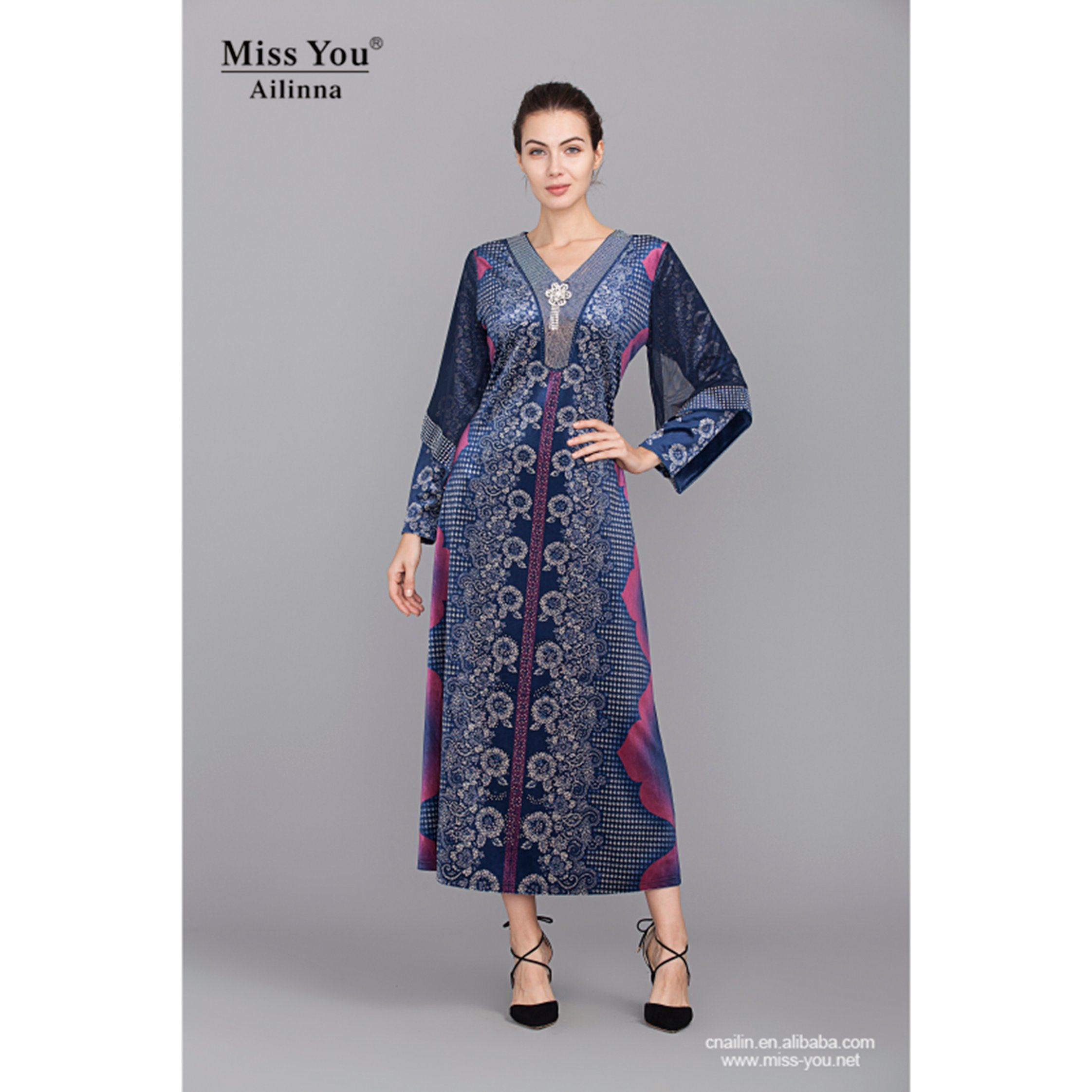 Miss You Ailinna 801895 Ethnic Beautiful Long Maxi Dress