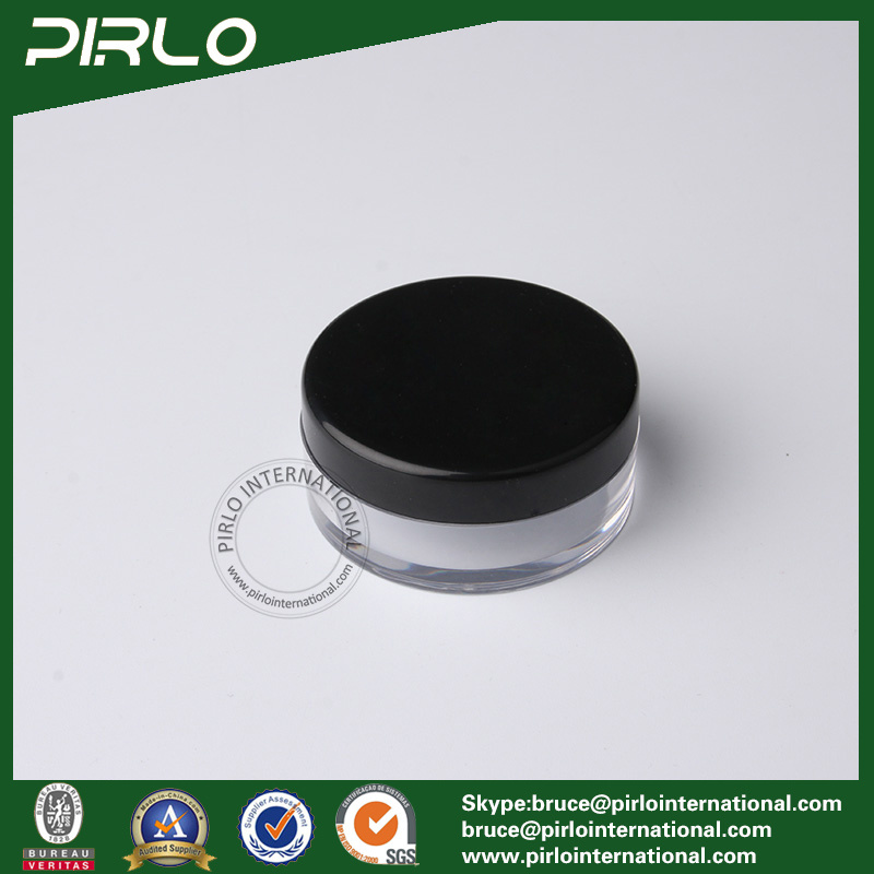 10ml 10g Transparent Plastic Cosmetic Powder Jar with Lid
