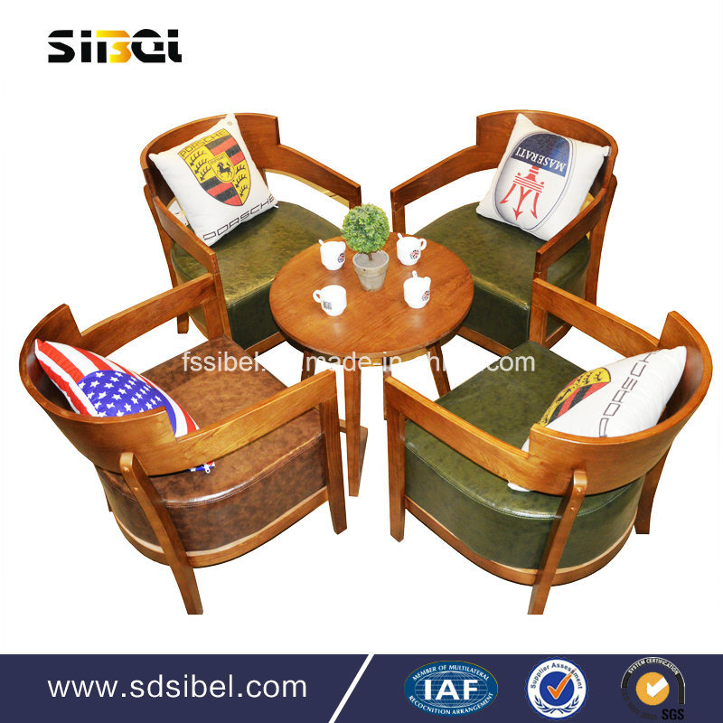 2017 Wooden Round Cafe Table Modern Dining Table Sbe-CZ0612