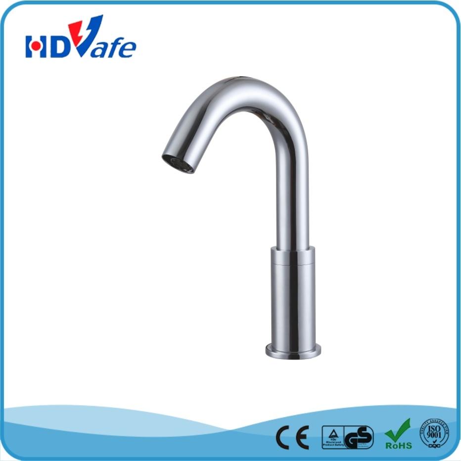Geeo Goose-Neck Optical Fiber Sensor Bathroom Basin Water Faucet HD5205