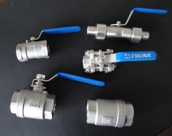 One Picecs 1000 Psi Threaded End Stainless Ball Valve for Gas Chemical
