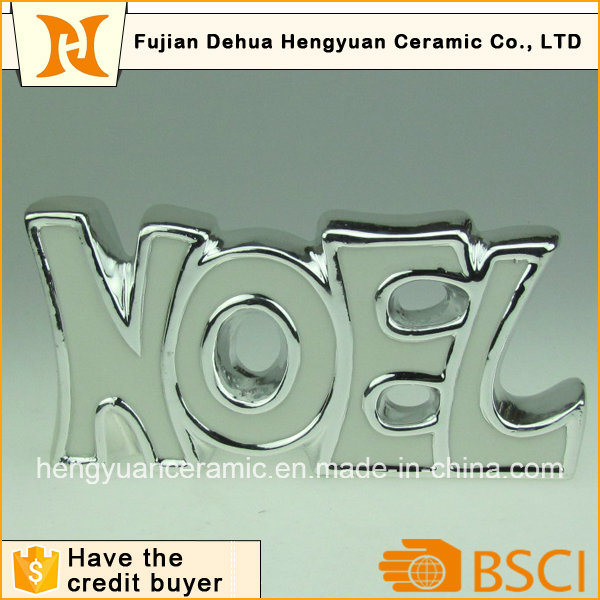 Letters Shape Silver Electroplate Ornaments for Home Decoration