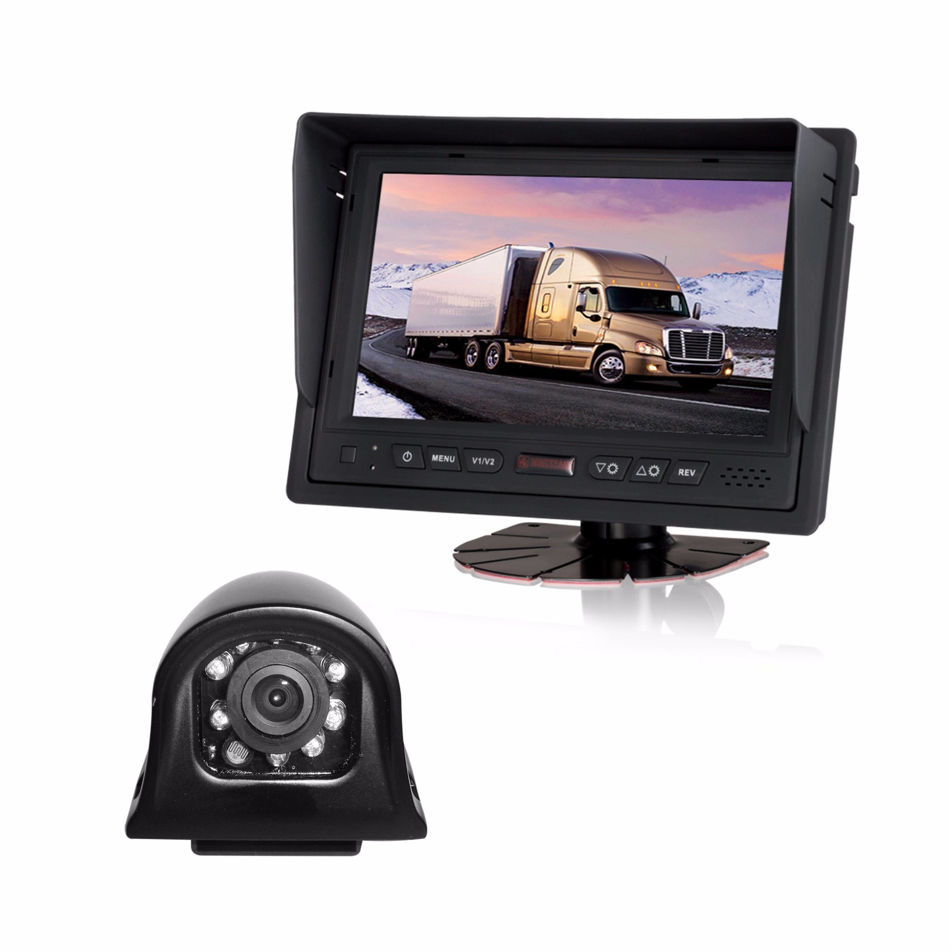 Reversing Camera System, Providing All Round Visibility for Commercial Vehicles and Mobile Plant