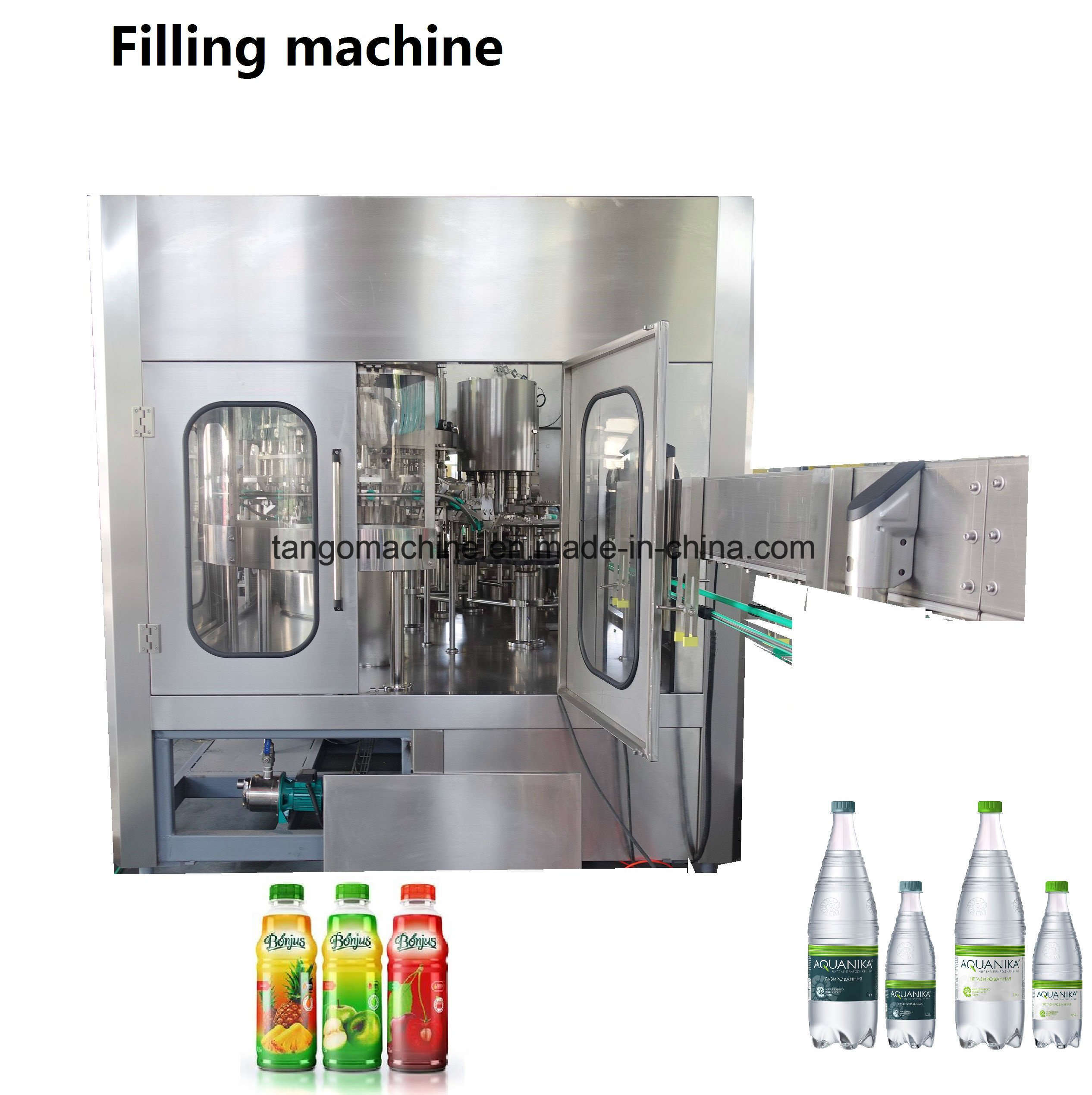 2017 New Technology Automatic Pet Bottle Juice Washing Filling Capping 3-in-1 Unit Machine