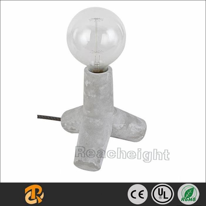 Top Design Cross Style Cement / Concrete Table Night Light