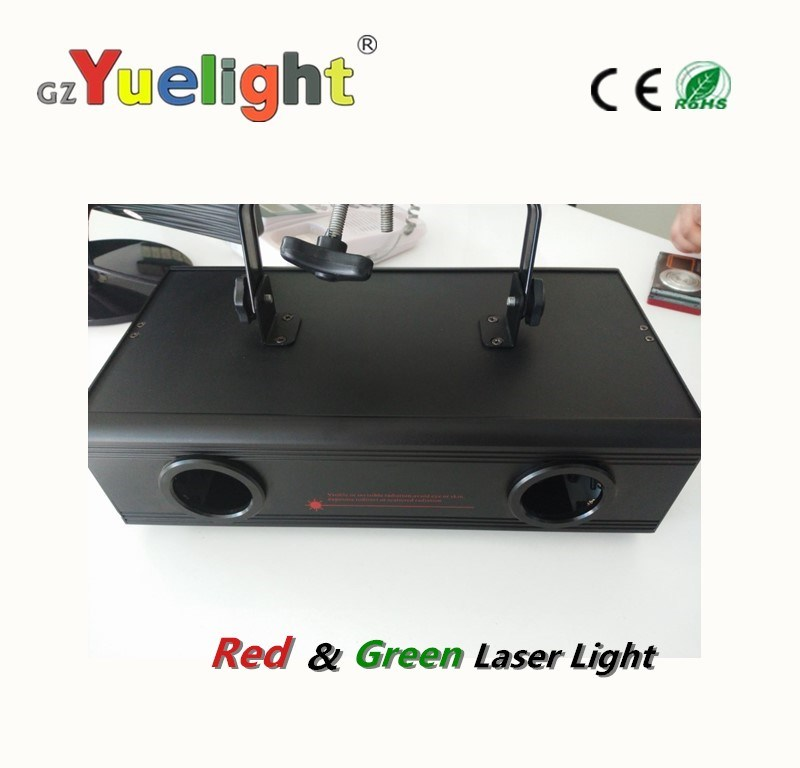 Hot Selling DMX Double Head Red & Green Laser Light Projector
