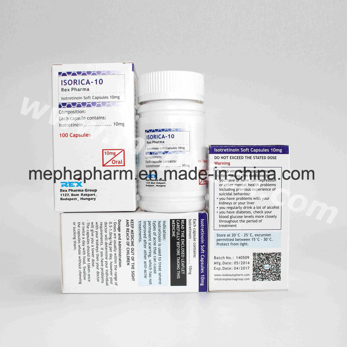 Isotretinoin Soft Capsule for Skin Care 10mg/Treat Acne Isotretinoin Caps
