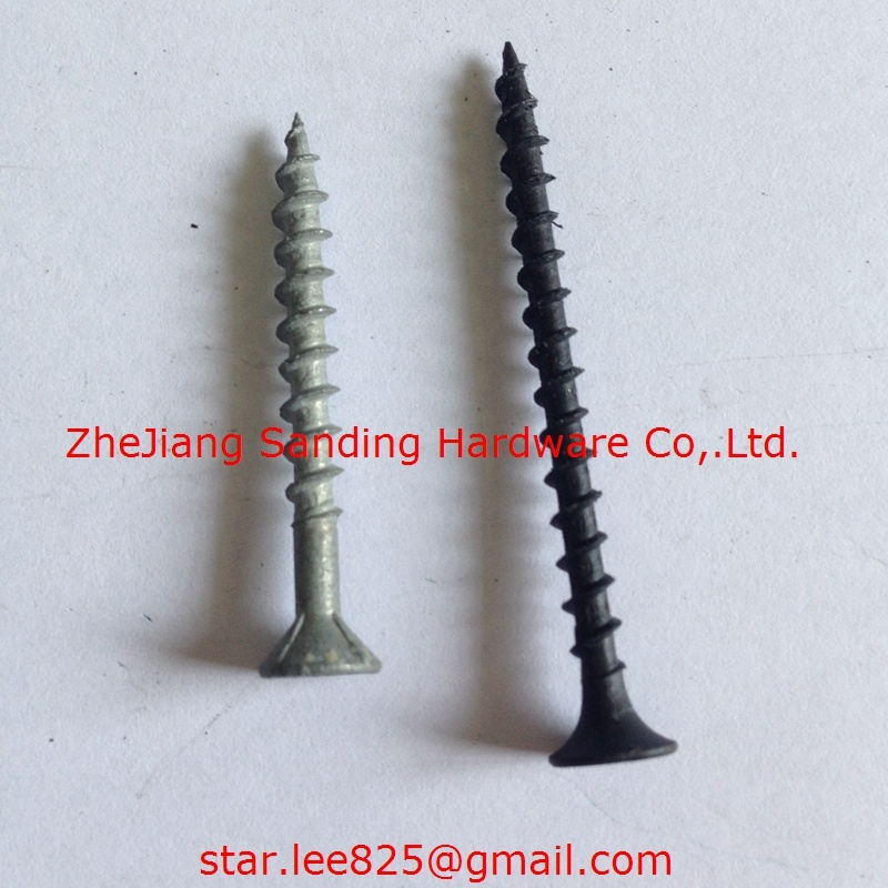 Philp Drive Plug Head Harden Black Phosphorus Drywall Screws