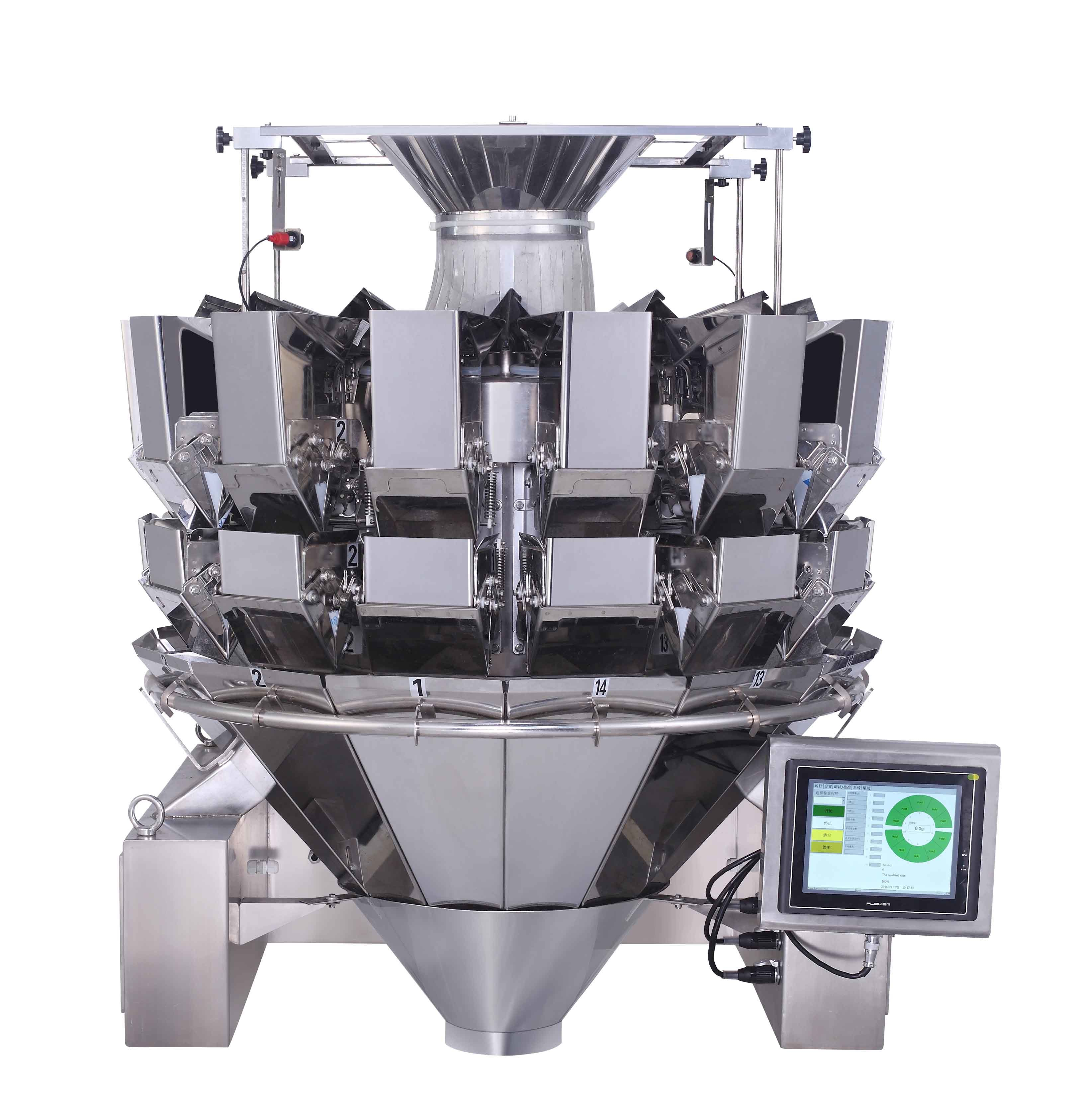 Automatic Computerized 14 Heads Multihead Weigher with Double Door