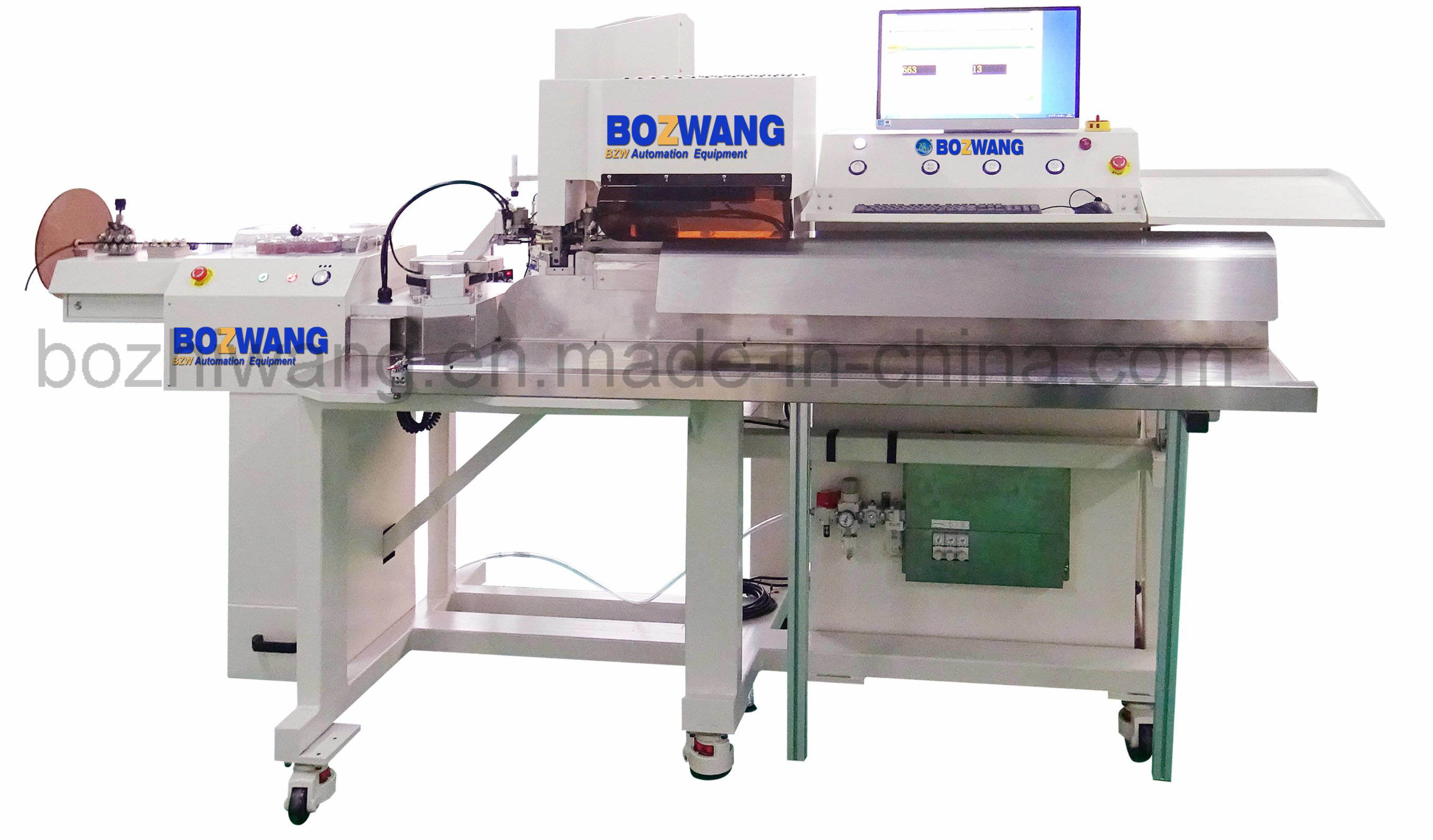 Automatic PV Wire Linked Terminal Crimping Machine