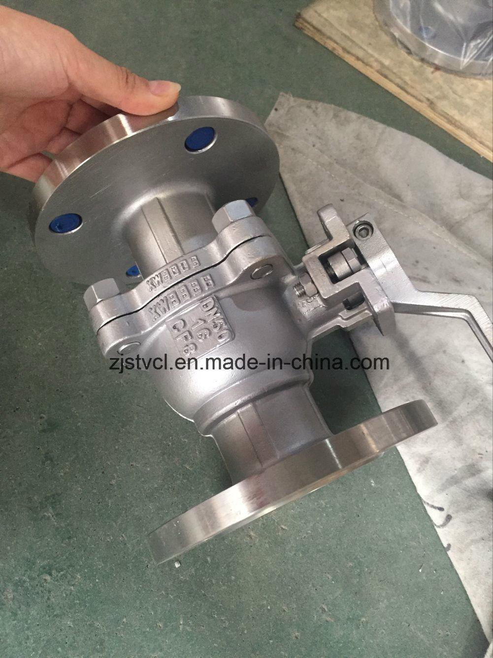 API RF 300lb Carbon Steel Flange Floating Ball Valve
