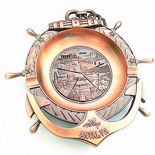 Souvenir Tourism Gifts 3D Emboss Engrave Logo Metal Ashtray (B5009)