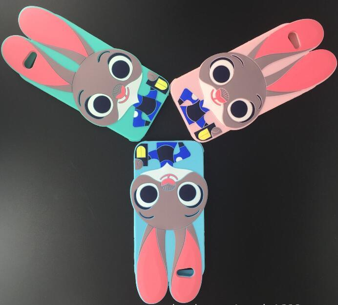 iPhone 7 Judy Rabbit Soft Phone Case Cartoon Silicon Case Drop-Proof Protective Shell