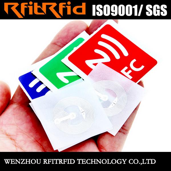 ISO14443 Writable Ntag213 NFC Antenna Sticker