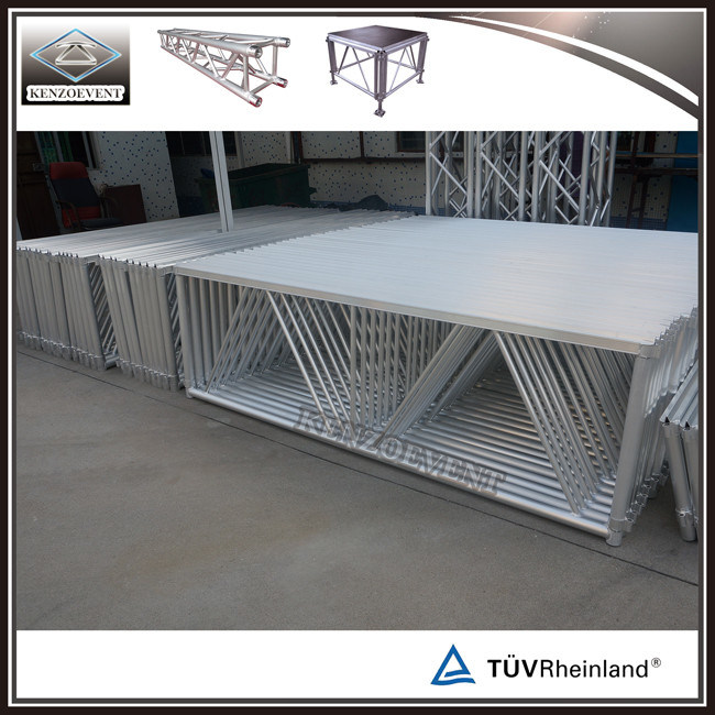 Outdoor Aluminum Movable Mobile Wooden Stage Portable