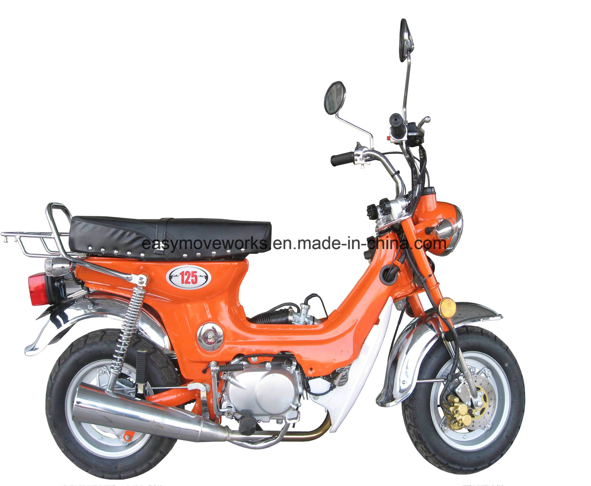Zhenhua Charly Motorcycle EEC Euro4 110cc Elec Kick Start Disc
