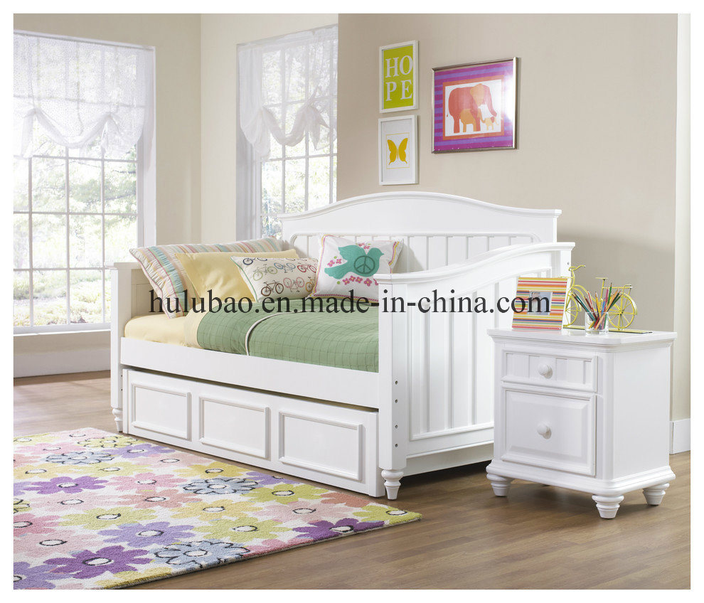 Children Furnitre Baby Furniture Wooden Daybed with Trundle