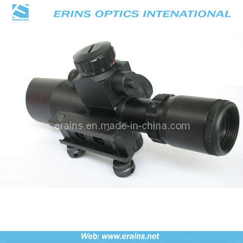 Mini 2.5-10x40 Compact Rifle Scope With Red Laser Sight