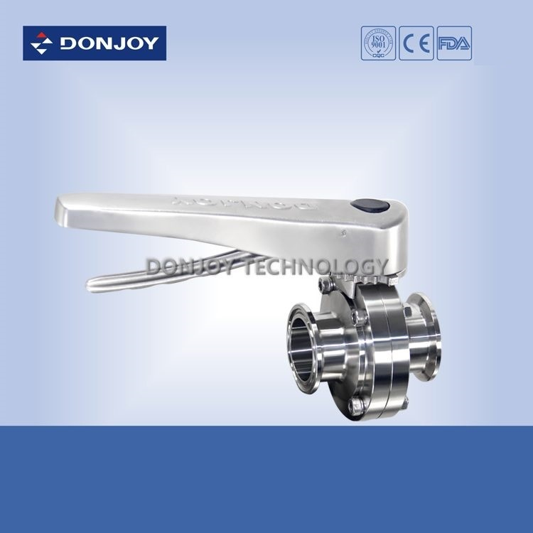 Stainless Steel Manual Clamp Butterfly Valve with Multi Position