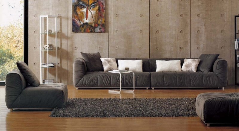Large Size Modern Fabric Sectional Sofa Set in Living Room (F817)
