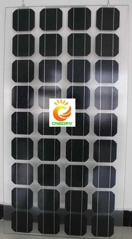 90W BIPV Double Glass Solar Panel