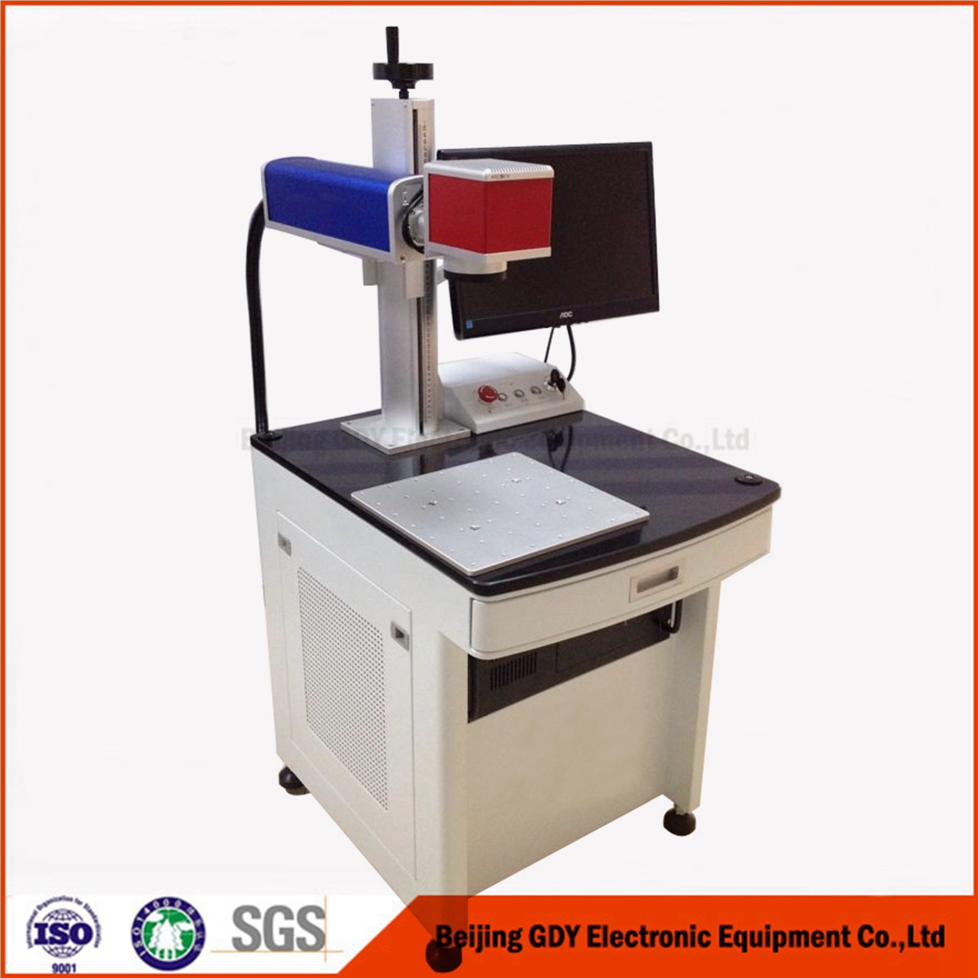 CNC Economical Table Fiber Laser Marking Machine for Stainless Steels, Metals, ABS, Plastics