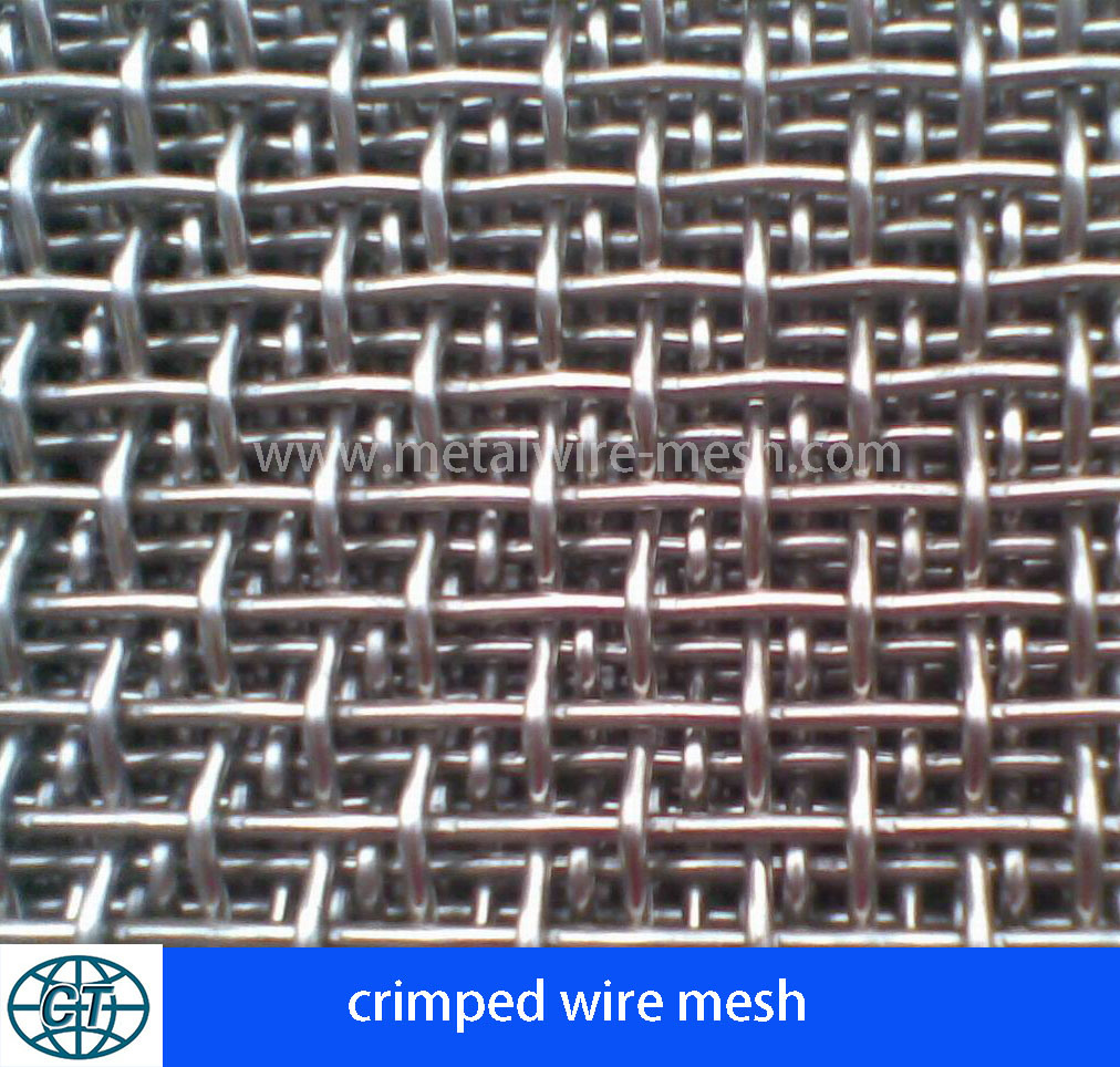 Stainless Steel Crimped Wire Mesh for Decorative Mesh and Filter Mesh