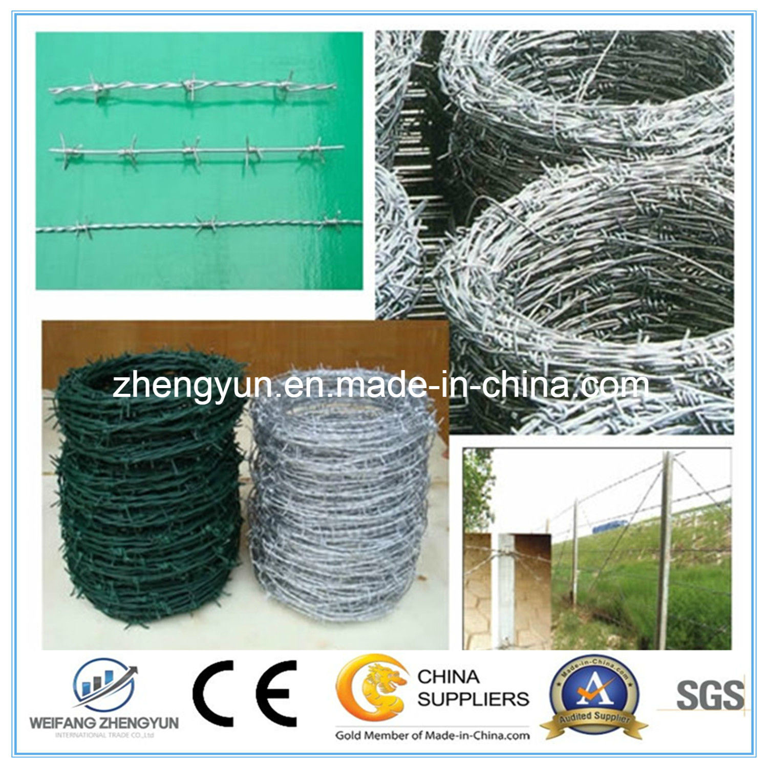 Building Materials Galvanize Barbed Wire Weight