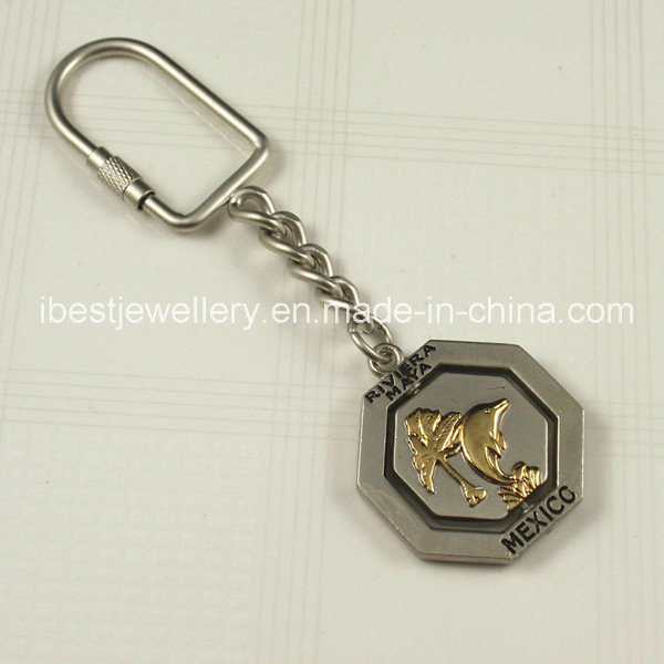 Souvenirs-Metal Keyring with Mexico Logo
