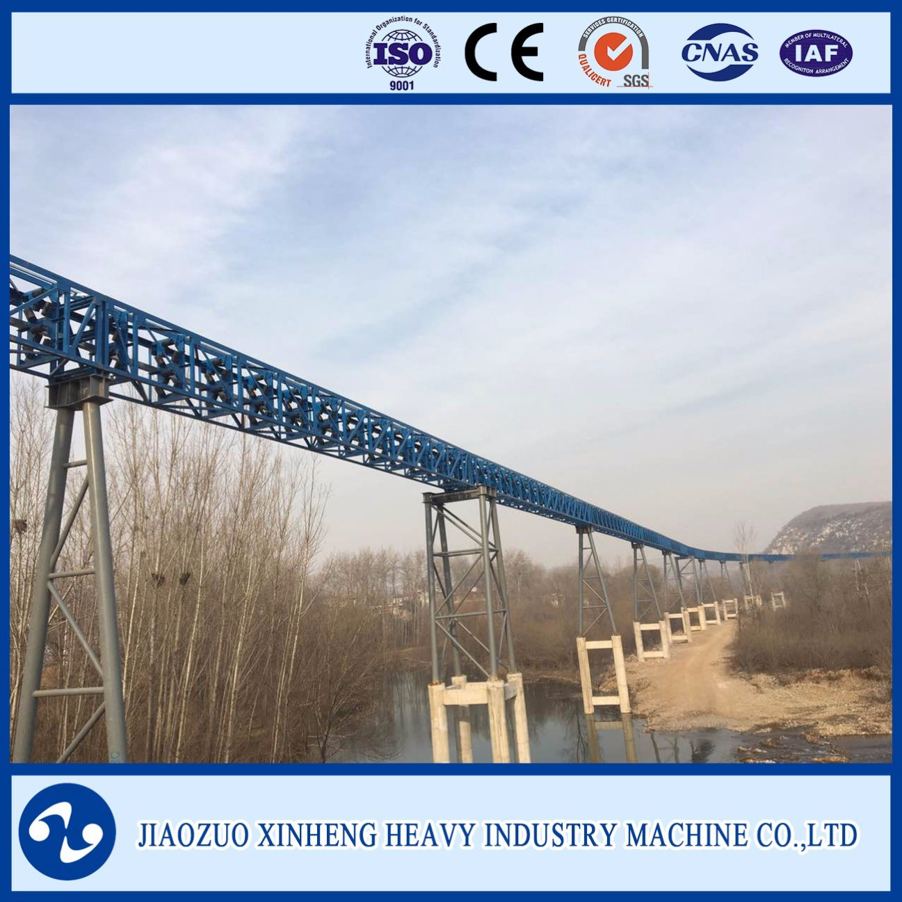 Belt Conveyor for Heavy Duty Industry, Mining, Coal, Power Plant