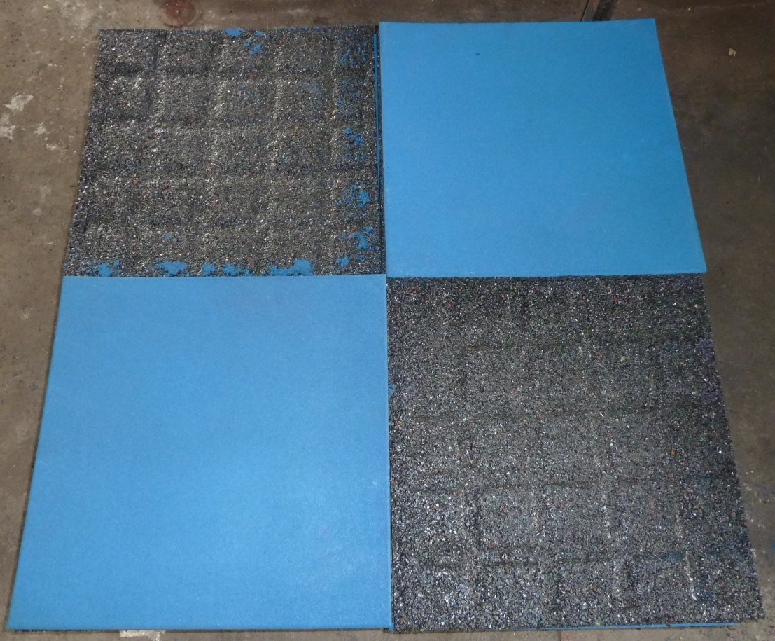 Sports Rubber Flooring Tile Square Rubber Tile Recycle Rubber Mat Playground Rubber Flooring