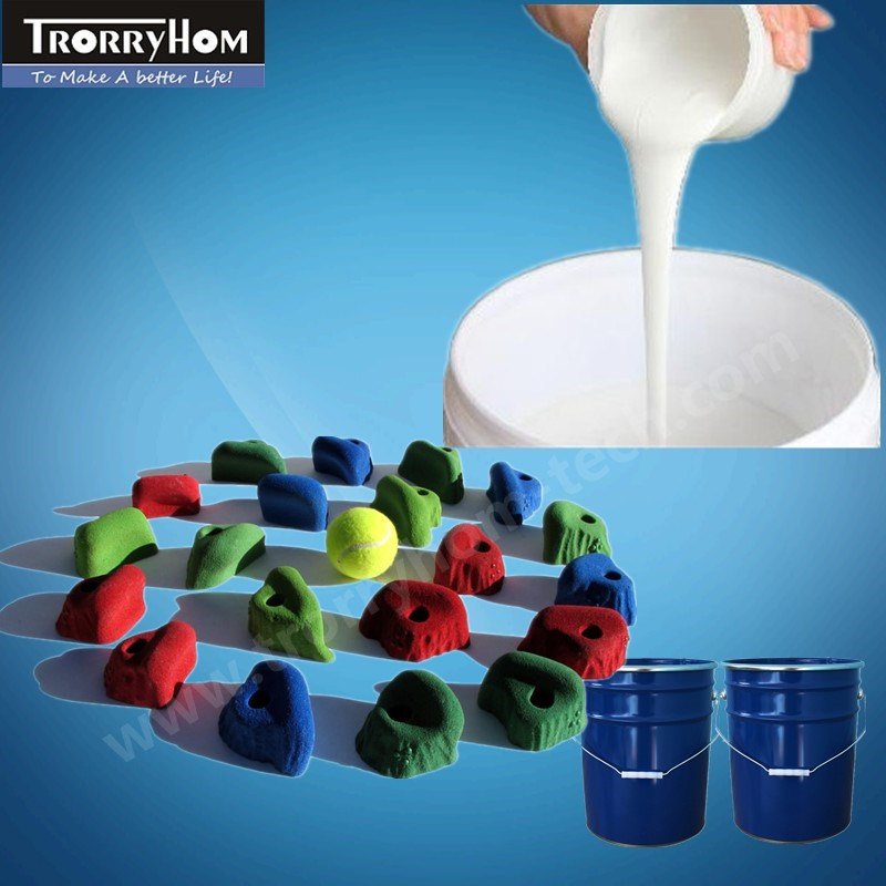 RTV Silicon Rubber for Moulding Baby Rock Climbing Stones