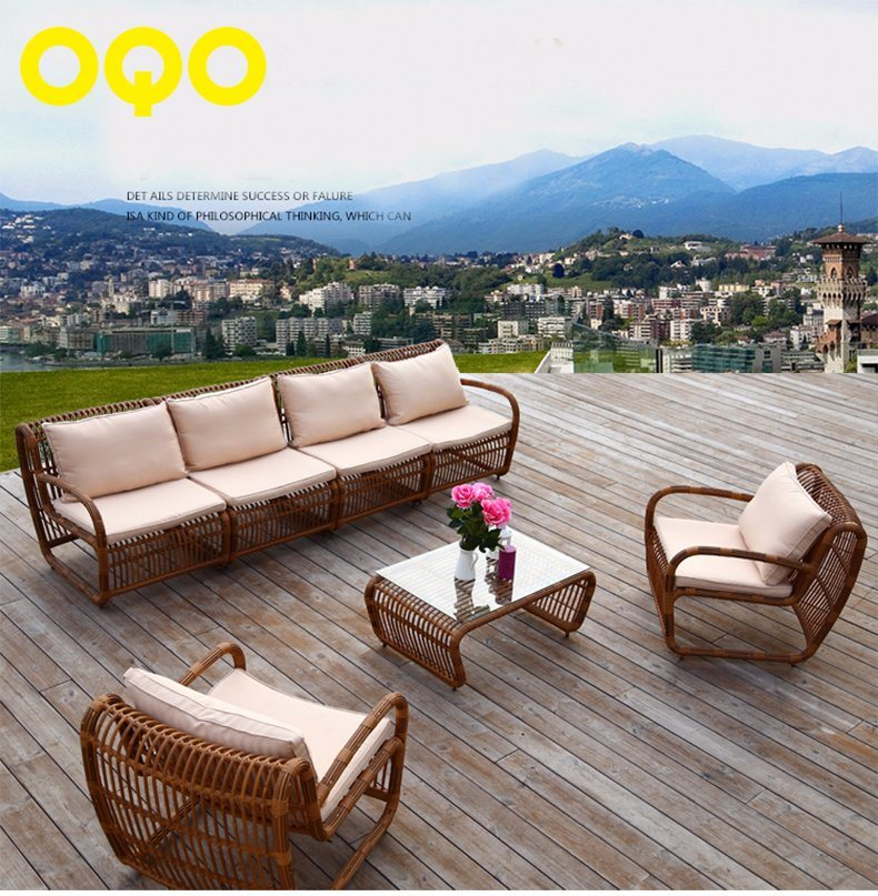 1+1+4 Rattan Sofa Outdoor Leisure Garden Sofa S314