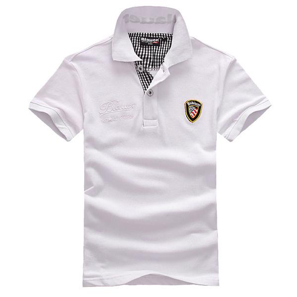 China fashion high quality white polo shirt made in