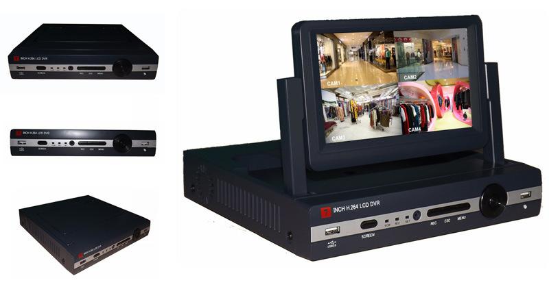 4CH HD 1080P Flexible LCD DVR (ISR-LCD304)