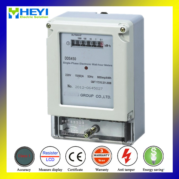 Watt-Hour Meter Single Phase Two Wire Register Type