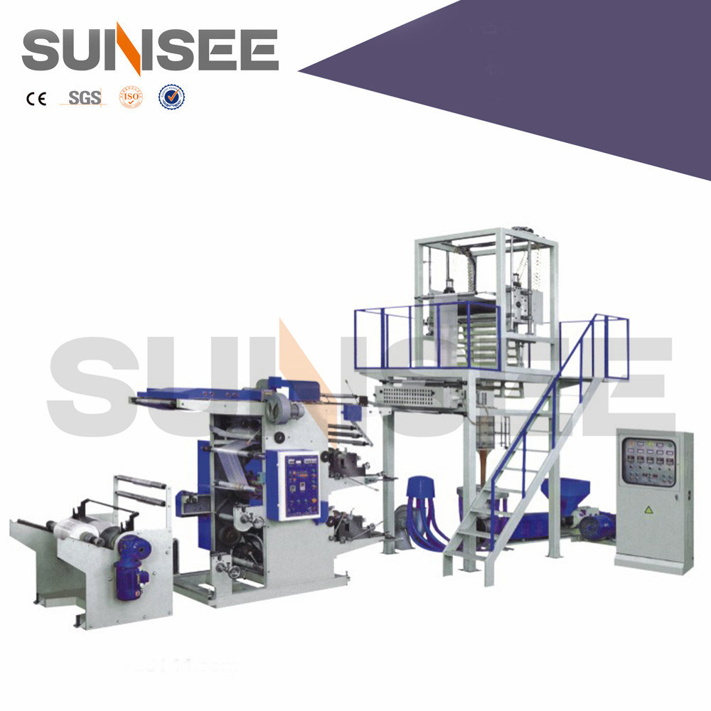 Film Blowing Machine with Printing Machine Inline