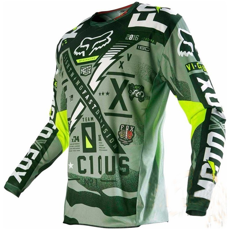 Green New Fashionable Custom Professional Sublimation Racing Jersey (MAT55)
