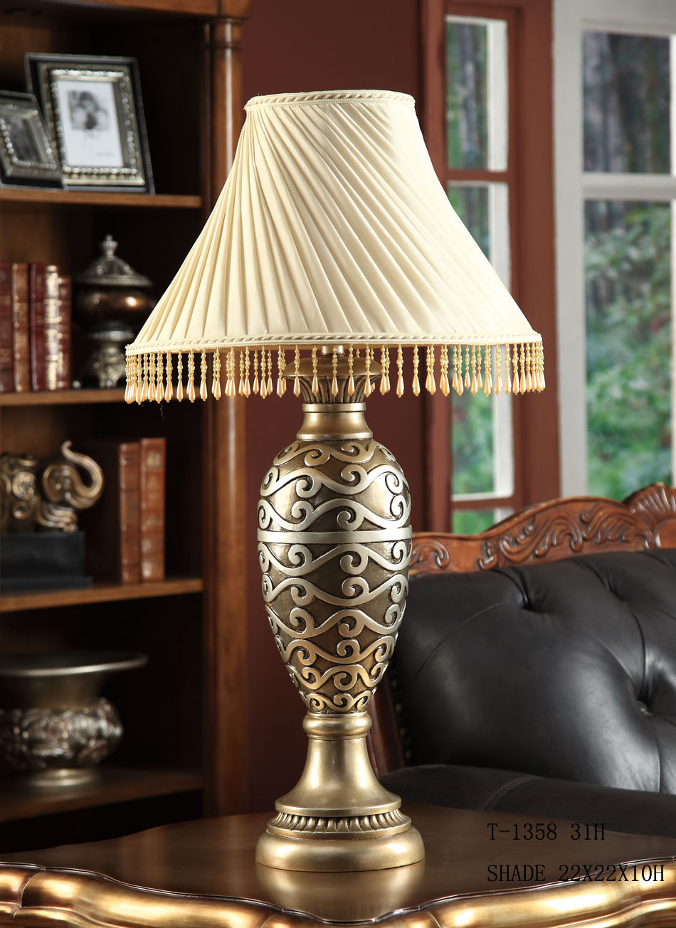 classic table lamp bedside table lamp t 1358. Black Bedroom Furniture Sets. Home Design Ideas