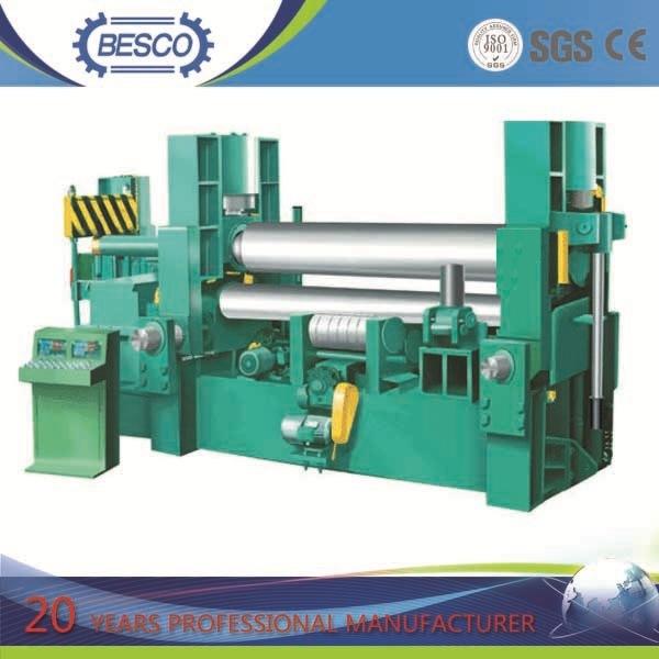 CNC Hydraulic 3 Roller Plate Bending Machine, 3 Roller Plate Rolling Machine, 3 Roll Bending Machine (W11S)